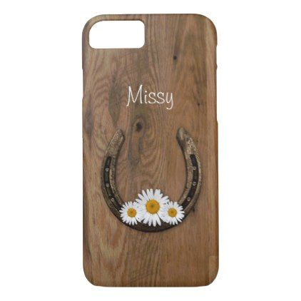 Horseshoe iPhone 7 Case - rustic gifts ideas customize personalize