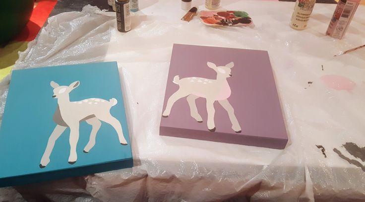 WORKS IN PROGRESS - custom nursery art #fawns #nurseryart