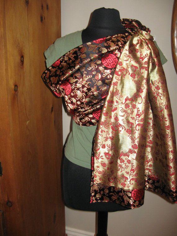 Silk Ring Sling Silk Baby Carrier Reversible Silk by UchiWraps