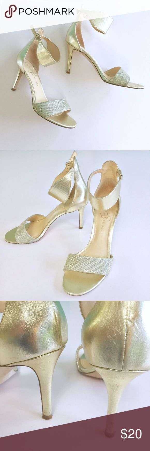Ivanka Trump Gold Heels Beautiful Ivanka Trump golden heels, these have been well loved but have lots of life left in them. There is a flaw on the outside bottom sides golden fabric has been worn off slightly,(see photos) Because of this I'm pricing these really low, so please don't lowball. Thank you 😊 Check out my closet, bundle and give me your offer! Ivanka Trump Shoes Heels