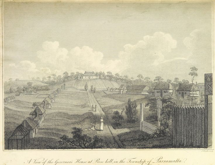 A View of the Governors' House at Rose hill, in the Township of Parramatta 1804