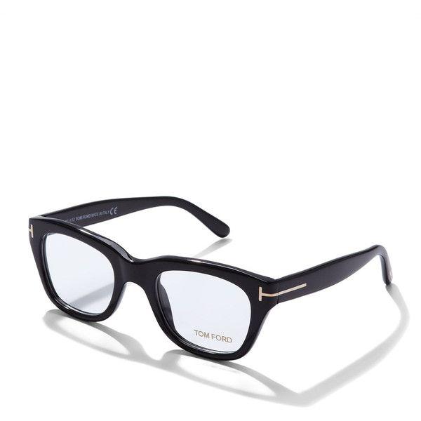 Tom Ford Large Acetate Frame Fashion Glasses ($445) ❤ liked on Polyvore featuring men's fashion, men's accessories, men's eyewear, men's eyeglasses, black and tom ford mens eyeglasses