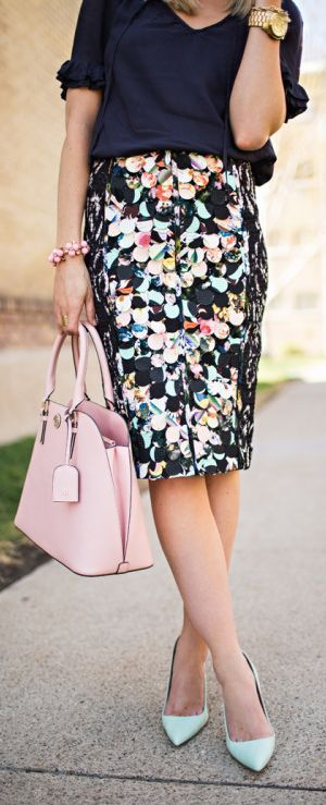 Cute Print Pencil Skirt