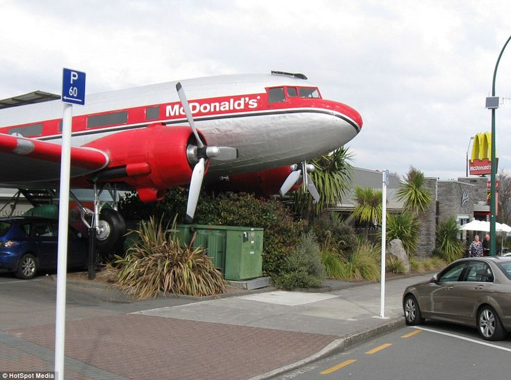 It's a McTakeoff: The 20-seater McDonald's housed in a vintage luxury DC-3 plane with red ...