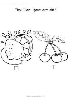 Ekşi Kavramı, sour worksheets