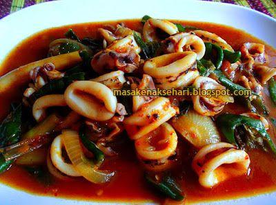 Resep Cumi Saus Padang Spesial | Resep Masakan Indonesia - masakenaksehari.blogspot.com