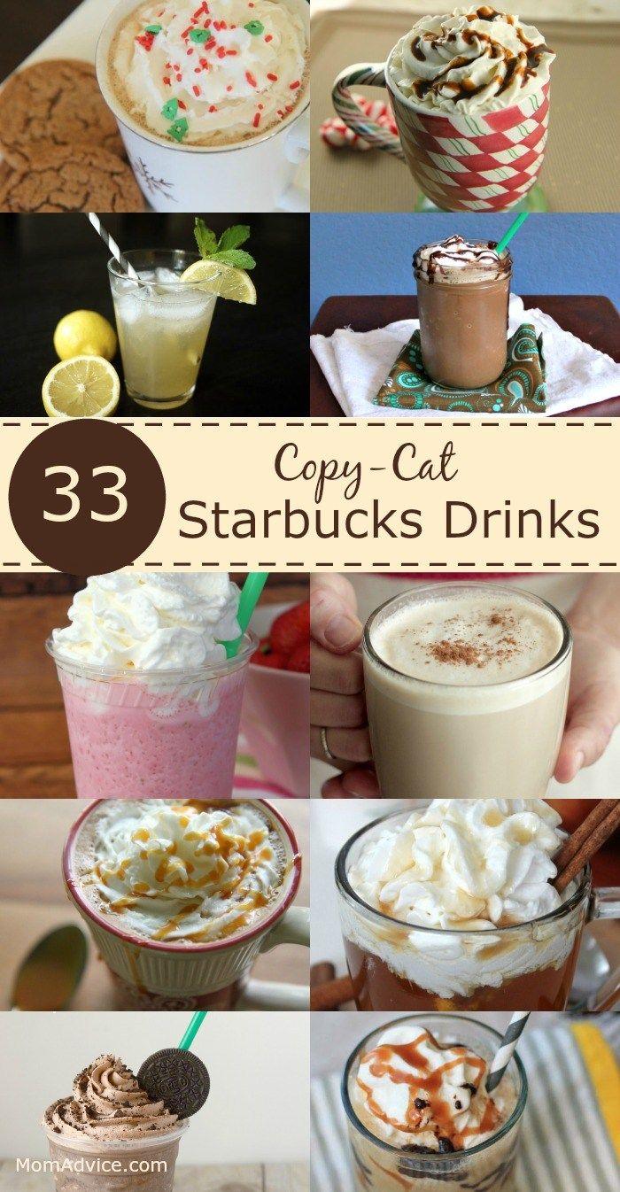 33 Copy-Cat Starbucks Drinks