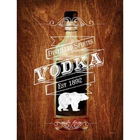 Vodka Drinker Wood Sign Canvas Art - Sam Appleman (22 x 28)