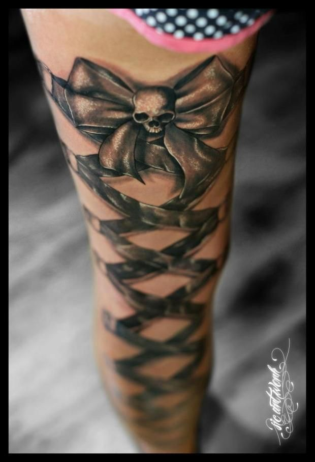 Best 25 lace skull tattoo ideas on pinterest for Skull leg tattoos
