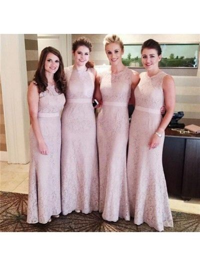 Long bridesmaid dress, bridesmaid dresses with lace,elegant bridesmaid dress, Simple bridesmaid dress,2016 bridesmaid dressesPD21171