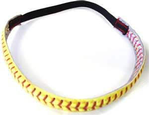 Sold on Etsy for $10 but are SIMPLE to make!!  Cut on either side of the softball seam (use the real leather balls, get older one's for a rugged look)  After you have it cut off (makes one headband or two bracelets) use clamps, wet the leather a little and stretch it so it stays straight overnight.  then sew snaps for a bracelet or elastic for a headband!  SIMPLE!!!