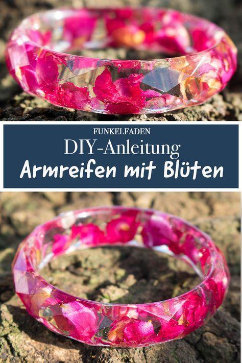 DIY-Anleitung – Armreifen mit echten Blüten selber machen