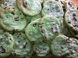 Mint Chocolate Chip Cookies Recipe ~ Easy Dessert Recipes #easy #dessert #recipes