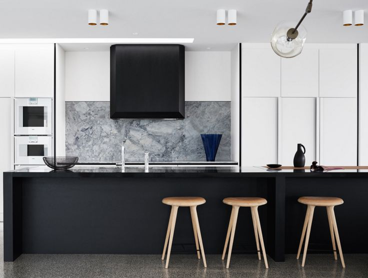high contrast kitchen