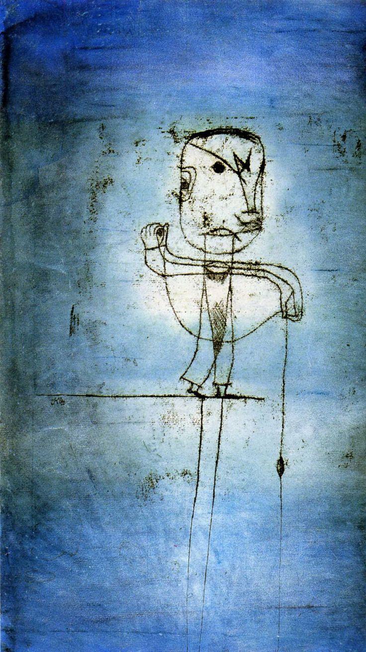 El pescador (1924) - Paul Klee. Exposición de Arte Degenerado (Entartete Künst).