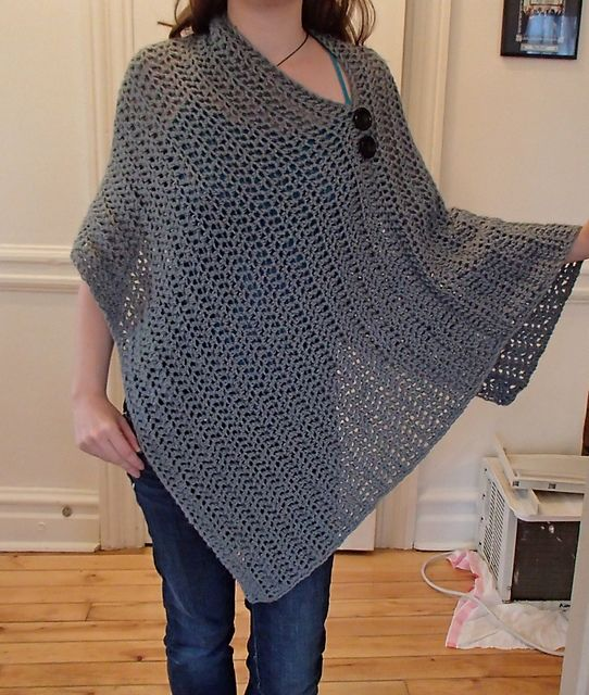 Ravelry: Project Gallery for Customizable Crochet Poncho pattern by Patti Gonsalves
