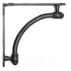 Set of 2 Pieces 9 Metal Cast Iron Rustic Arch Wall Shelf Bracket Brackets 1 of 1
