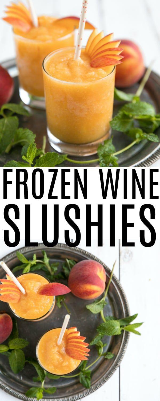 Frozen Peach Wine Slushies