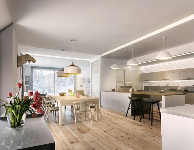 salle à manger avec des meubles en bois