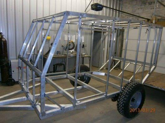Offroad camper construction, welded frame.