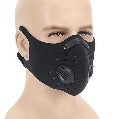 Dust mask,Anqier Activated Carbon Filtration Dustproof Mask Training Cycling Half Face Mask Exhaust Gas Anti Pollen Allergy PM2.5 Dust Mask Filter for Outdoor Activities (Black-C) #Dust #mask,Anqier #Activated #Carbon #Filtration #Dustproof #Mask #Training #Cycling #Half #Face #Exhaust #Anti #Pollen #Allergy #Filter #Outdoor #Activities #(Black