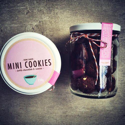 Double Chocolate & Nut Mini Cookies