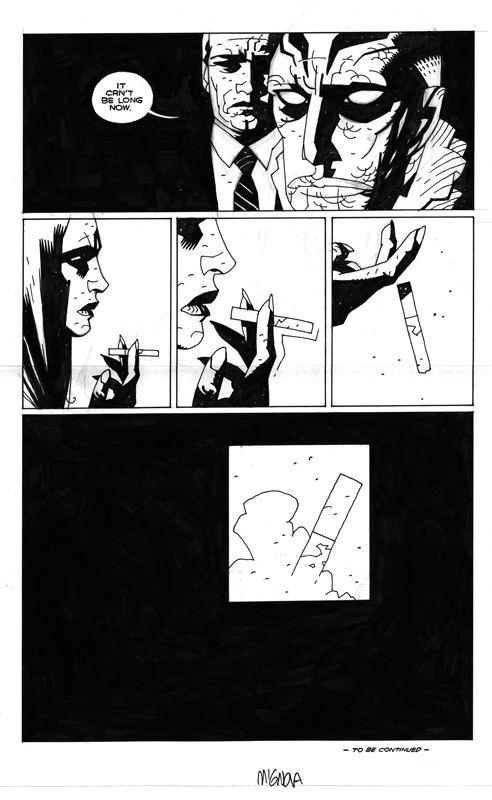 Almost Colosus last page Comic Art