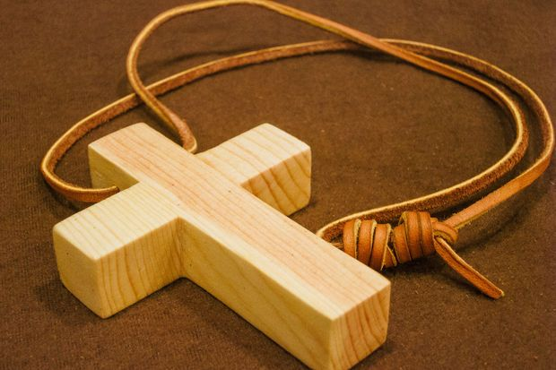 Picture of Wooden Cross Necklace (for monk costume)
