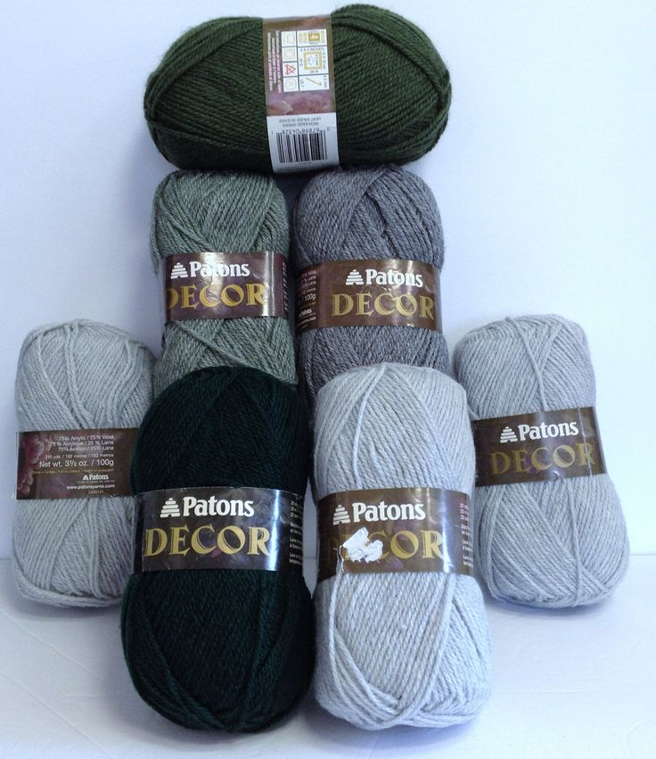 Patons Wool, Vintage Patons Yarn Destash, Decor Yarn Green & Grey Heathers 7 Skeins Wool Blends Crochet and Knitting Yarn by HeyJudeCollection on Etsy