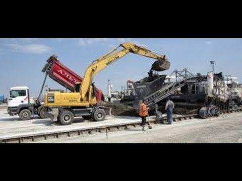 Строительство дорог в Америке Как строят дороги в США Уникальная техноло...