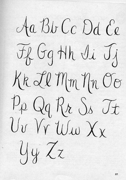Alfabeto letra cursiva Mais