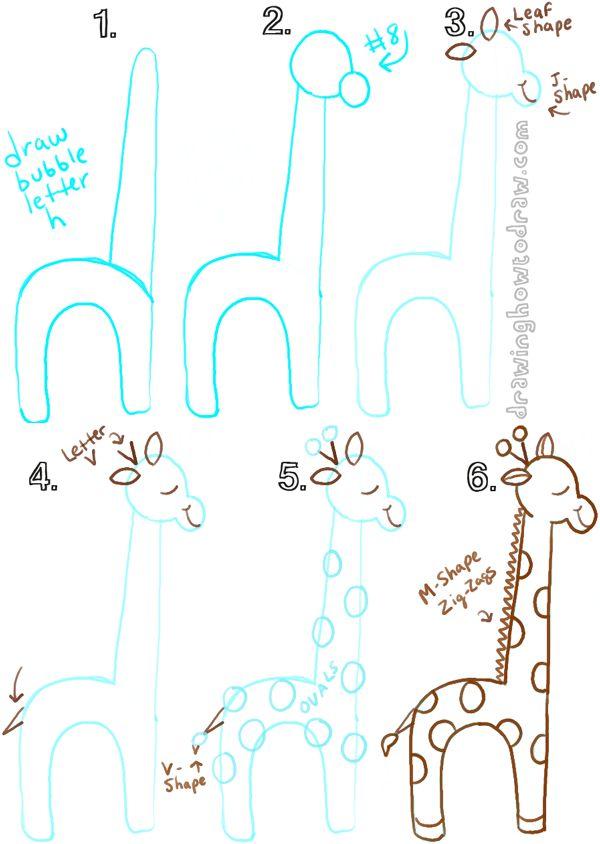Como dibujar una jirafa
