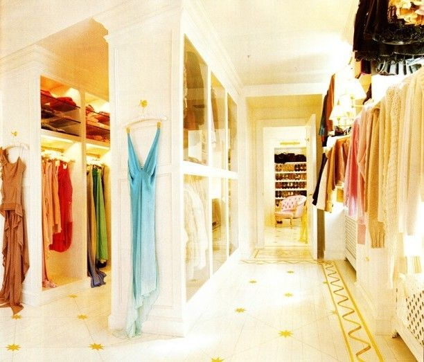 Mariah Carey  clothes closet in her Manhattan penthouse. These photos only show about HALF of Carey's ginormous closet.