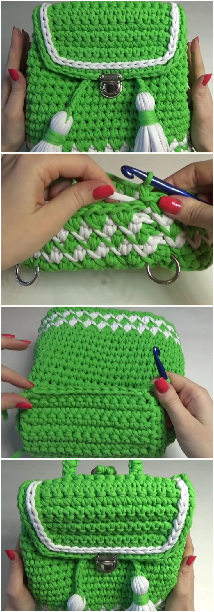 Learn How To Crochet Beautiful Backpack