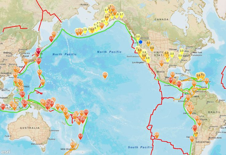 2.5 and Above Earthquakes, May 9 - 15, 2015