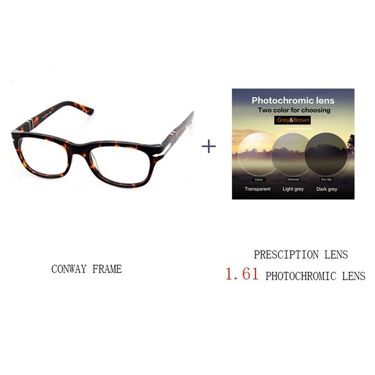 Conway 2016 Eye Glasses Frames For Men Demi Color 3101V Prescription Eyewear Optical Glasses (demi, 1.61 photochromic lens). 1.61 photochromic lens(1.592/1.599/1.600/1.601)Range between 400-600 degrees. GRADIENT LENS,DIFFERENT TIME PERIODS DISPLAY DIFFERENT COLORS.Make the order (frame+lens)together.Please unload your prescription information from your optician or write the details in the order. KIND REMIDER----In order to ensure that your PD details is exact,pls measured by your friends...