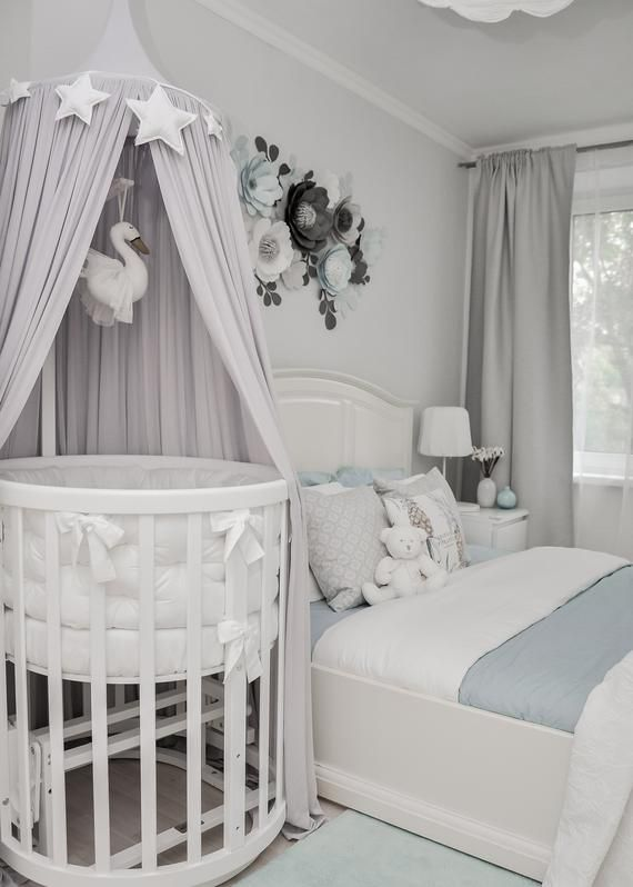 Bohemian Bed Canopy For Baby Light Grey Crib Canopy Expecting