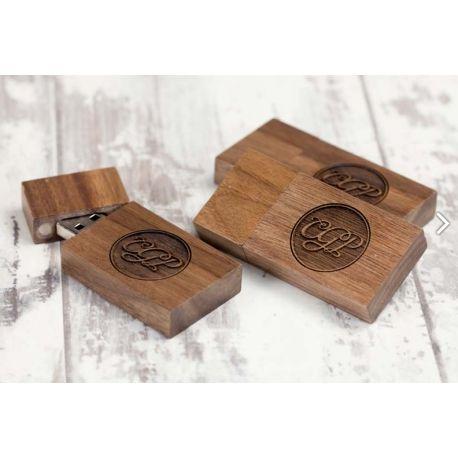 PACK USB Magnet & Caja de madera redondeada