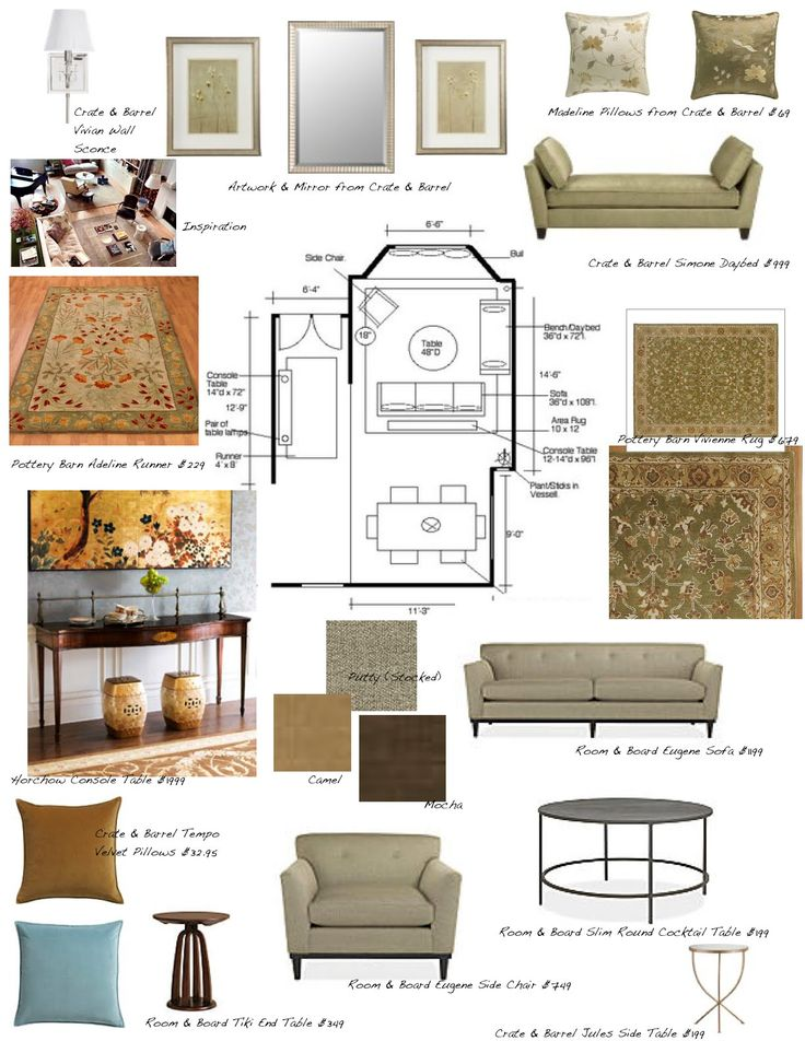 Interior Design Sample Board Layout Concept