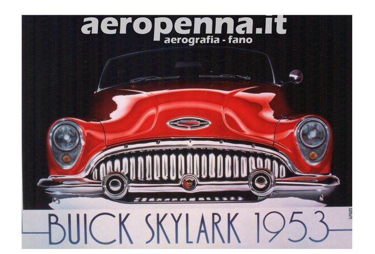 Airbrush illustration buick, aerografia, cm.70x100