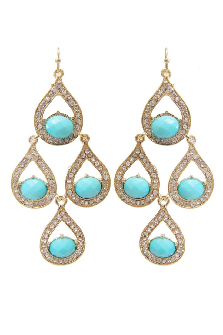 FAB Accessories Wendy Earring in Turquoise