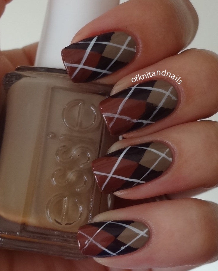 123 best nails plaids images on pinterest nails artists and cute for ring finger essie case study beige carry on burgundy and very structure rust prinsesfo Gallery