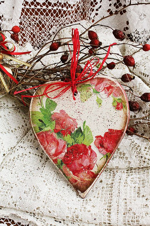 Inspiration for St Valentines Day #heart #valentines #love #romantic #wood #ornament