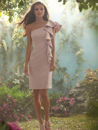 Asymmetrical dress: Alfred Angelo, Bride Maids, Shower Dresses, One Shoulder, The Bride, Bride Dresses, Bridal Style, Cute Bridesmaid Dresses, Disney Bridesmaid