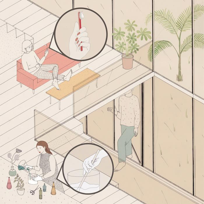 AXO_Bristol based illustrator Harriet Lee-Merrion (already present in Socks' archive) works on sophisticated drawings which combine linear figures and volumes with coloured natural presences. She employs mostly the axonometric projection which allows the synchronic representation of interior and...
