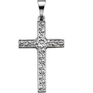 CleverEve's Platinum 20.00X13.00 mm Cross Pendant CleverEve. $260.99. Save 62% Off!
