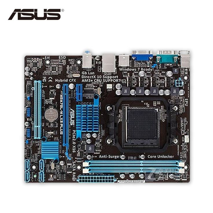 Asus M5A78L-M LX3 PLUS Original Used Desktop Motherboard 760G Socket AM3+ DDR3 16G SATA2 USB2.0 Micro ATX #Affiliate