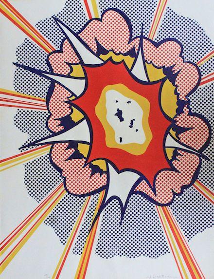 Roy Lichtenstein: Explosion, 1967. I adore his comic book series - Ker-pow!!!!!!!