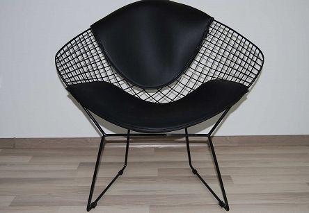 Fotel, krzesło Wire black with black cusion