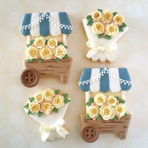 flower wagon cookies